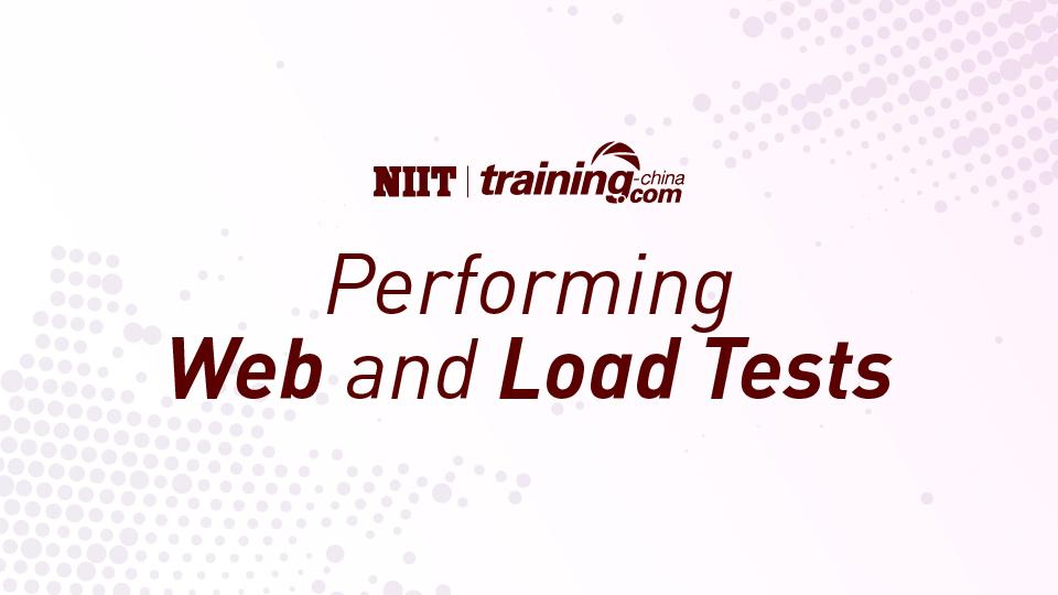 (MTC)Performing Web and Load Tests